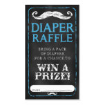 Mustache Baby Shower Diaper Raffle Ticket Baby Double-Sided Standard Business Cards (Pack Of 100)
