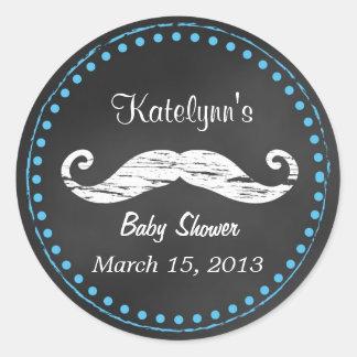 Mustache Baby Shower Favor Sticker