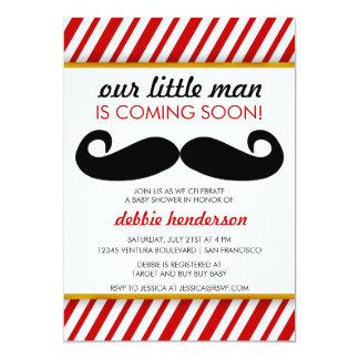 """Mustache Baby Shower Invitation 5"""" X 7"""" Invitation Card"""
