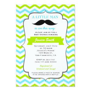 Mustache Baby Shower Invitation 5