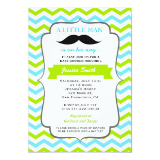 Good Mustache Baby Shower Invitation