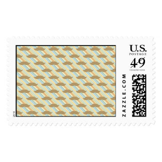 Mustache Background Postage Stamps