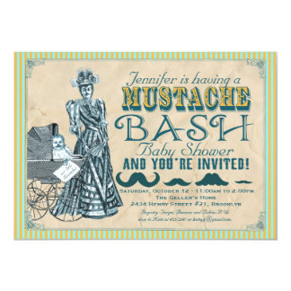 Mustache Bash Baby Shower Invitation