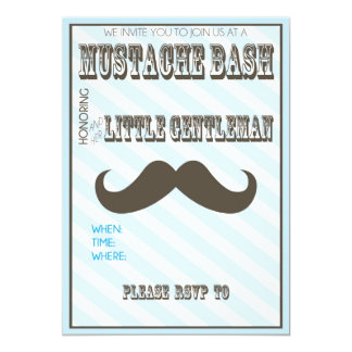Mustache Bash Baby Shower Invite Fill in the Blank