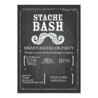 Mustache Bash Bachelor Party Chalkboard Hipster Invitation Zazzle_invitation2