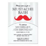 Mustache bash birthday party invitation