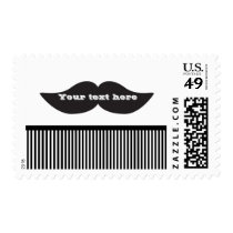 Mustache Bash Birthday PARTY Invitation Postage