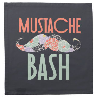 Mustache Bash Cloth Napkin