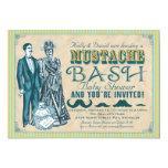 Mustache Bash Couples Baby Shower Invitation