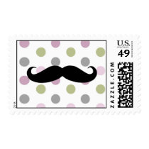 Mustache Bash Custom Postage Stamp