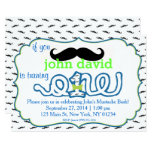 Mustache Bash First Birthday Invitation