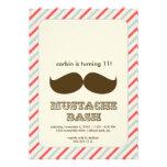 mustache bash invitation