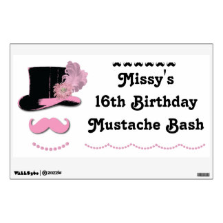 Mustache Bash Wall Decal