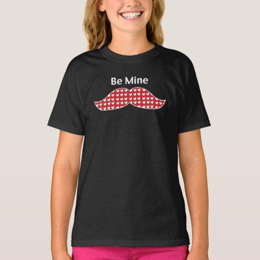 Mustache Be Mine Valentine T-Shirt