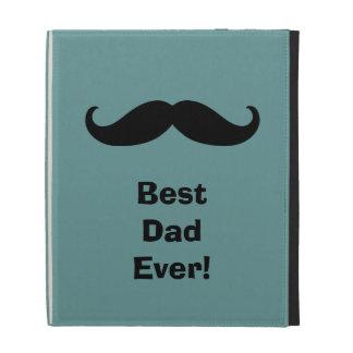 Mustache Best Dad iPad Folio Cases