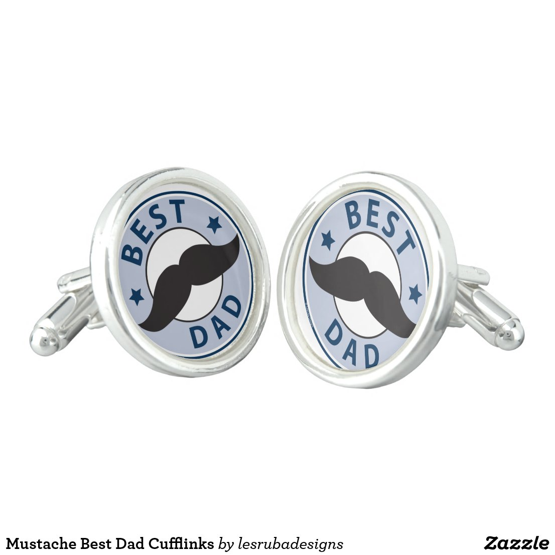 Mustache Best Dad Cufflinks