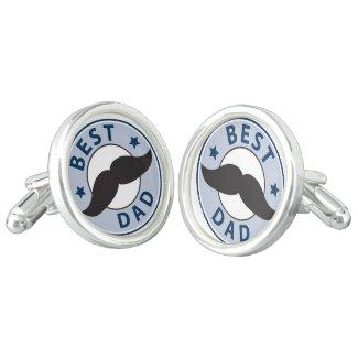 Mustache Best Dad Cufflinks