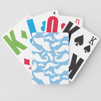 Mustache Bicycle Playing Cards