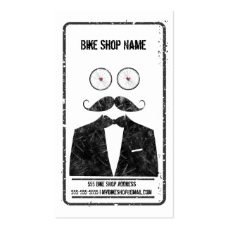 Mustache Bicycle Shop business card