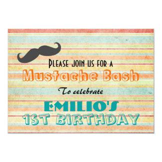 Mustache Birthday Bash Invite