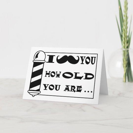 Mustache Birthday Greeting Card Zazzle