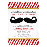 Mustache Birthday Invitation
