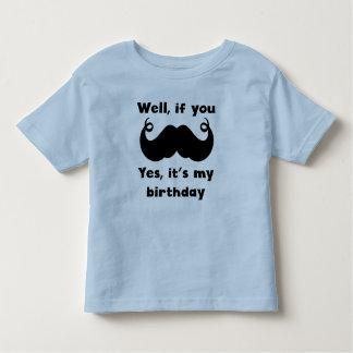 Mustache Birthday Toddler T-shirt