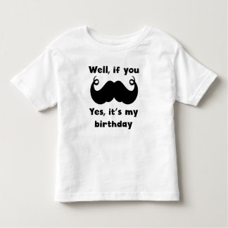 Mustache Birthday T-shirts