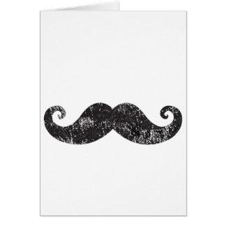 Mustache Black Fun Card