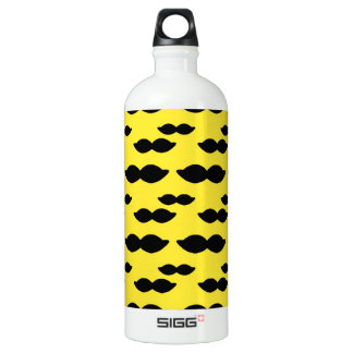 Mustache, Black Handlebar on Yellow Background SIGG Traveler 1.0L Water Bottle