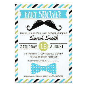 Mustache baby shower invitations zazzle mustache bow little man baby shower invitation filmwisefo