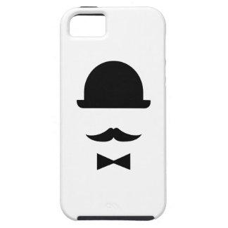 Mustache & Bowler Hat Pictogram iPhone 5 Case