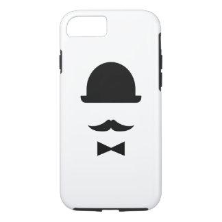 Mustache & Bowler Hat Pictogram iPhone 7 Case