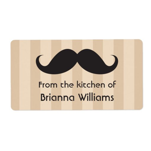 Mustache brown stripes from the kitchen of labels