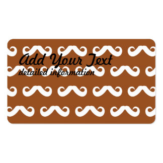 Mustache Brown White Double-Sided Standard Business Cards (Pack Of 100)