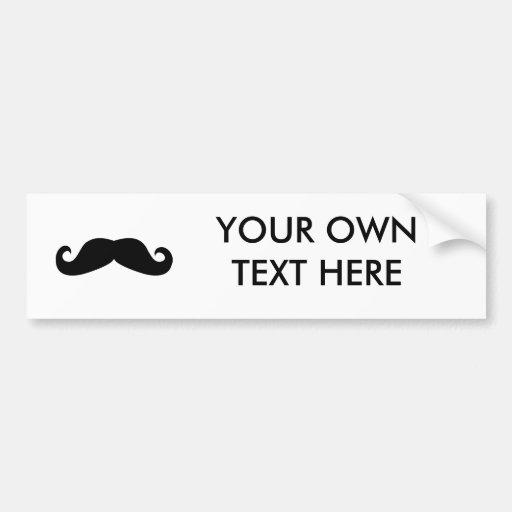 Mustache Bumper Stickers