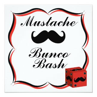 Mustache Bunco Bash Invitation