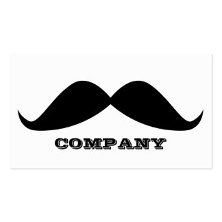 Mustache Business Cards