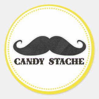 mustache candy dessert treat sweet table birthday classic round sticker