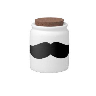 Mustache Candy Jar