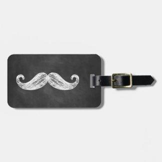 Mustache Chalkboard Luggage Tag