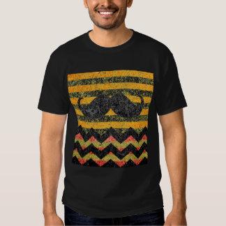 Mustache Chevron Modern Striped T-Shirt