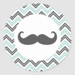 Mustache Chevron Sticker