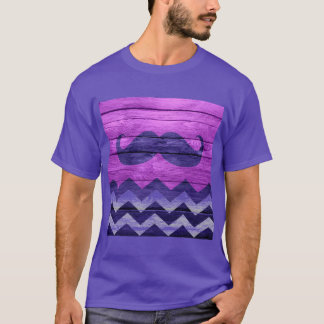 Mustache Chevron Vintage Wooden #2 T-Shirt