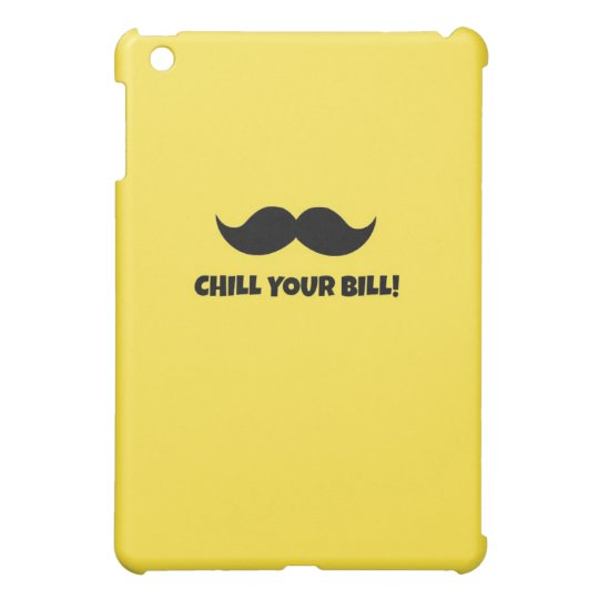 mustache chill your bill case case for the iPad mini
