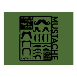 Mustache choose only one a day postcard
