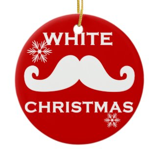 Mustache Christmas Ornaments