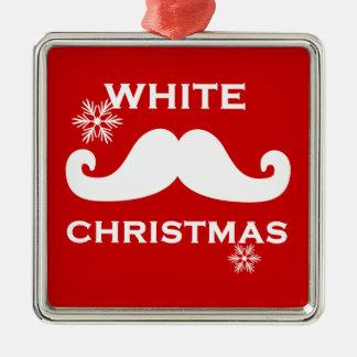 Mustache Christmas Metal Ornament