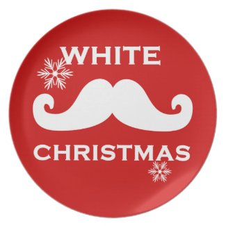 Mustache Christmas Plates