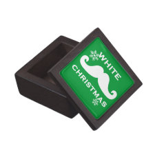 Mustache Christmas Premium Keepsake Boxes